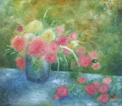 薔薇の油絵 10号_b0089338_22203469.jpg