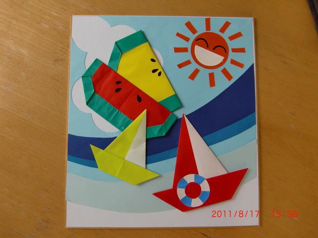 簡単 折り紙 8月 折り紙 : tomomarimo.exblog.jp