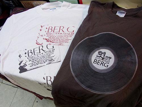 【ベルクオリジナルTシャツ】 人気の紙ナプキン柄と21stレコードデザイン♪_c0069047_0442974.jpg