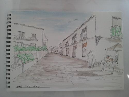 スペイン  ミハスの街並み    青い空と白い壁が印象的でした。  _c0213352_12381648.jpg
