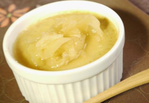 豆乳黄粉プリン と桃リンゴジャム_e0086864_22585319.jpg
