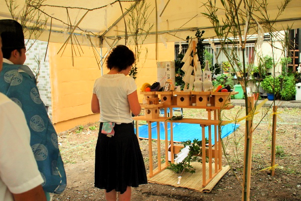 「浅草の家」地鎮祭 2011.8.19_f0230666_13574669.jpg