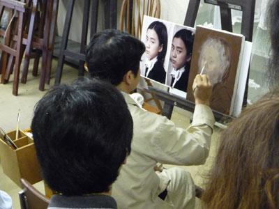 """古吉弘の""""古典的描法による人物画講座""""レポート3_b0107314_11232160.jpg"""