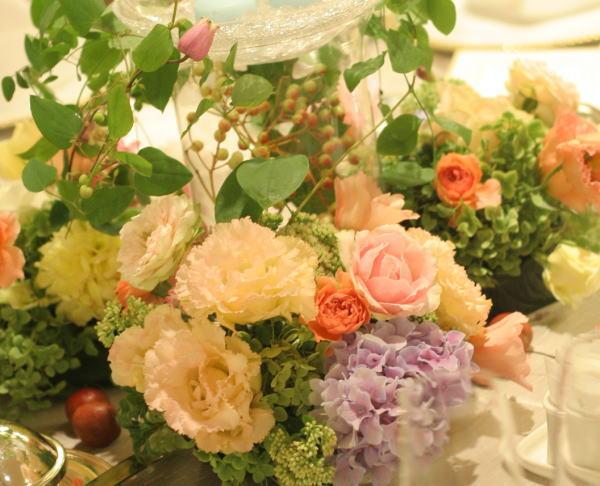 ゲストテーブルの装花_a0042928_2130419.jpg