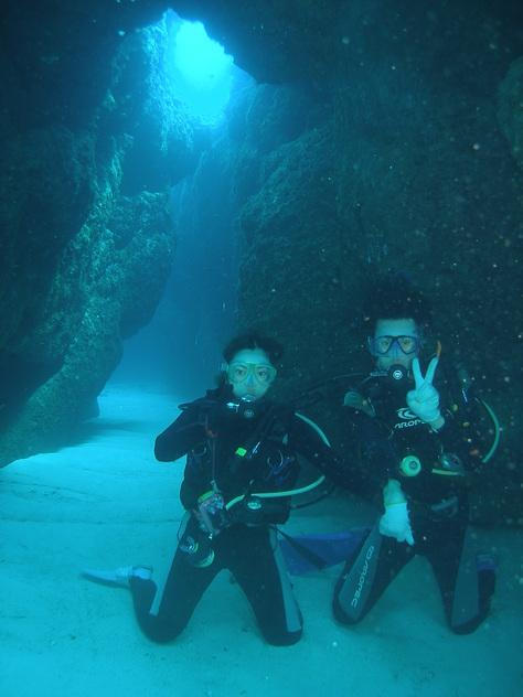 8月20日青の洞窟攻めに水中洞窟♪_c0070933_23421386.jpg