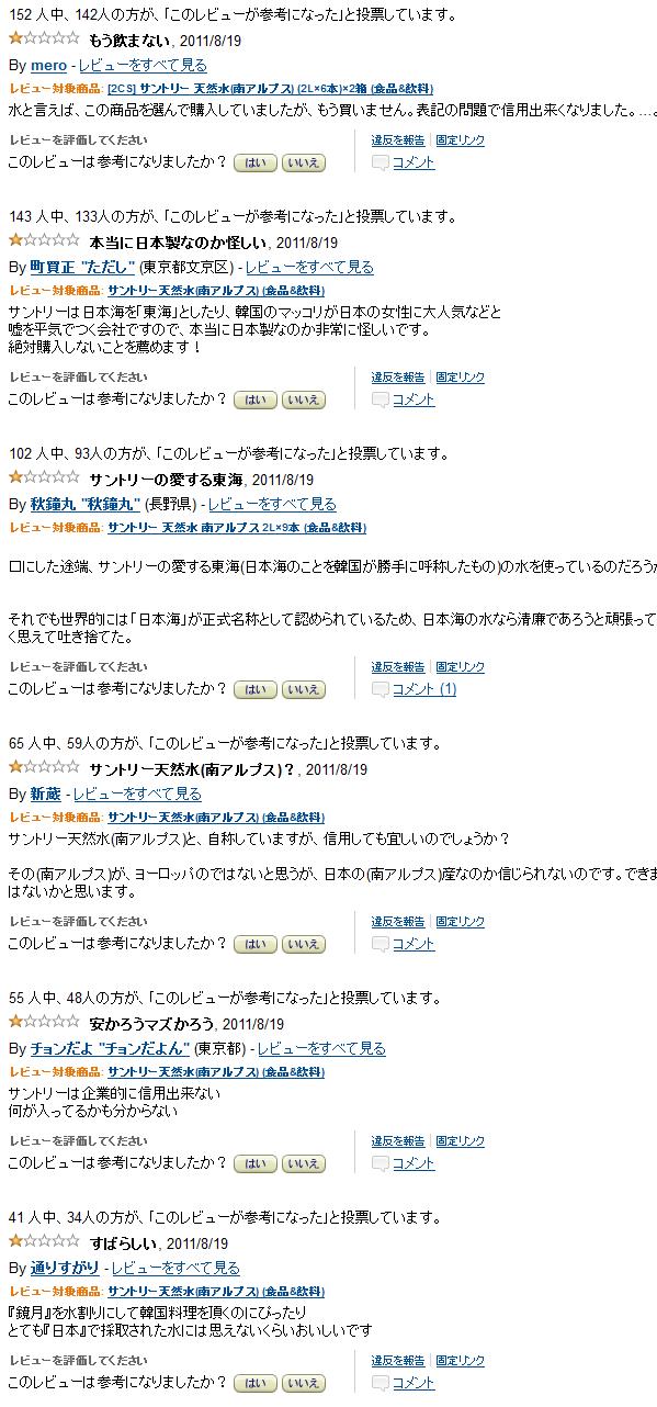 ★【攻撃 レビュー画像】:サントリーの「東海」表記、6年前にも_a0028694_23254336.png