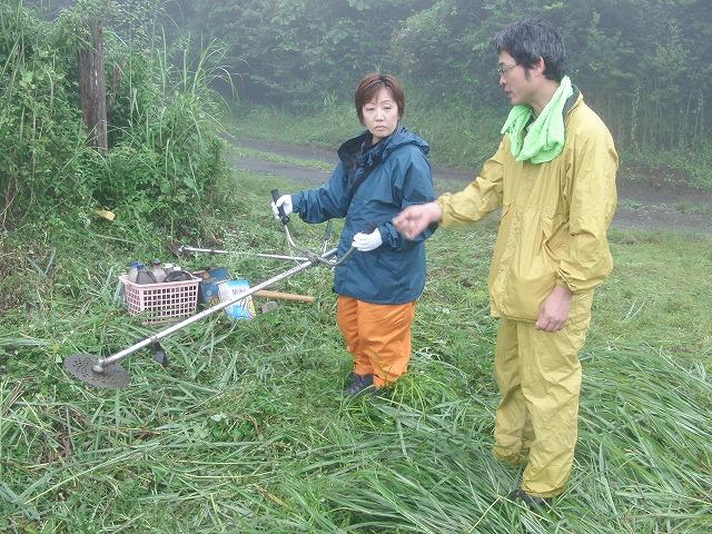 東京から多くの人が参加する富士山国有林の下草刈り_f0141310_7475268.jpg