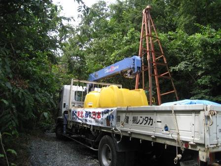 東日本大震災 石巻市北上町で井戸掘削開始!!_b0170161_1111794.jpg