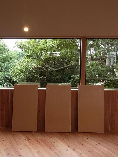 「森に浮かぶ家」塗装大会&見学会でした。_a0117794_15135735.jpg