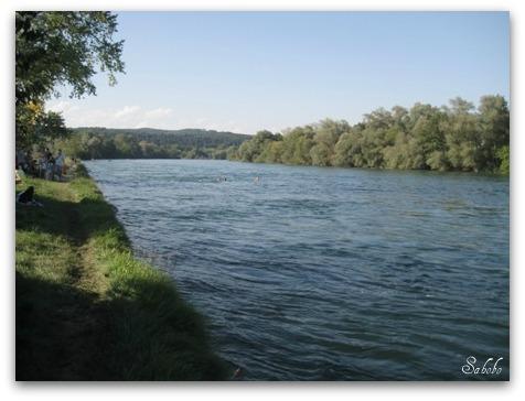 週末旅行 小さな村の教会&ライン川を泳ぐ_b0168823_21175521.jpg