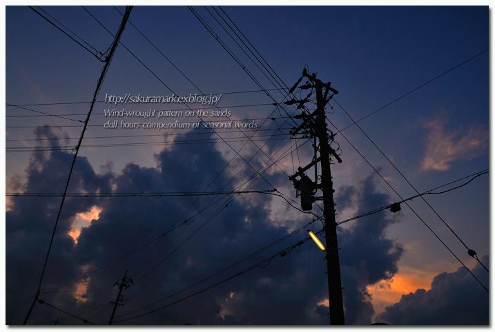 夕闇積乱雲。_f0235723_18412114.jpg