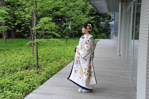 新郎新婦様からのメール 手作りの髪飾りと、お花畑のブーケ ルアール東郷様へ_a0042928_2241437.jpg