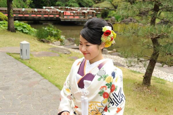 新郎新婦様からのメール 手作りの髪飾りと、お花畑のブーケ ルアール東郷様へ_a0042928_2242549.jpg