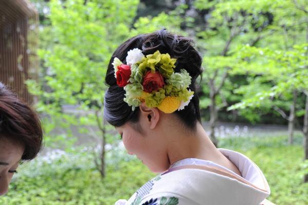 新郎新婦様からのメール 手作りの髪飾りと、お花畑のブーケ ルアール東郷様へ_a0042928_2243766.jpg