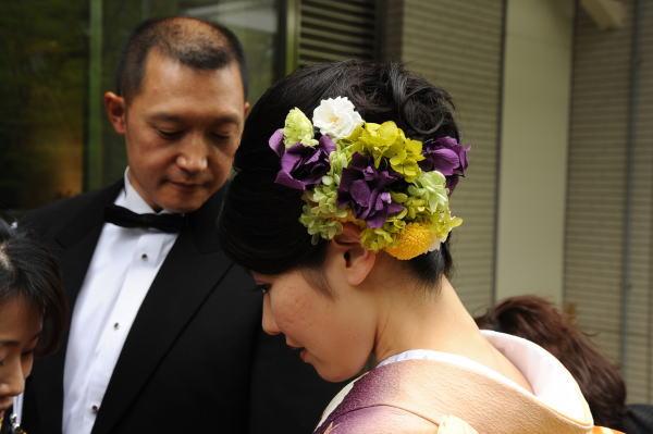 新郎新婦様からのメール 手作りの髪飾りと、お花畑のブーケ ルアール東郷様へ_a0042928_2251793.jpg