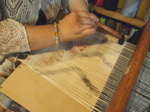 ベンガラ絣染織りワークショップ_b0022291_1785475.jpg