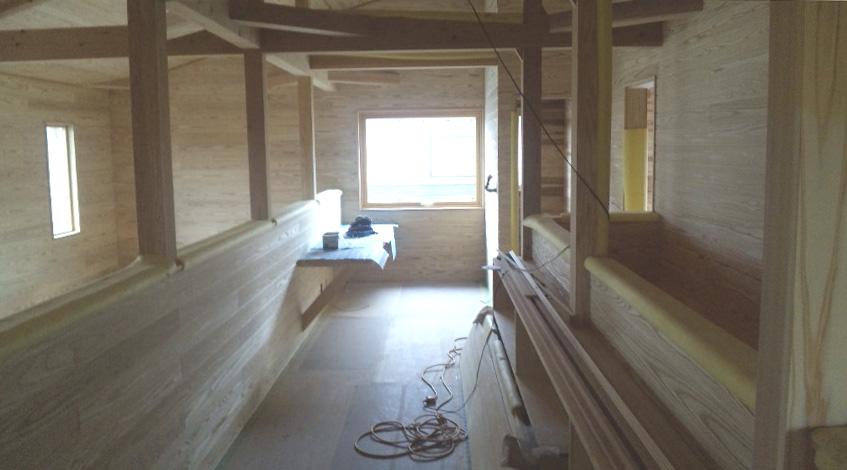 K様邸「船場町の家」 内部造作中です。_f0150893_1712661.jpg