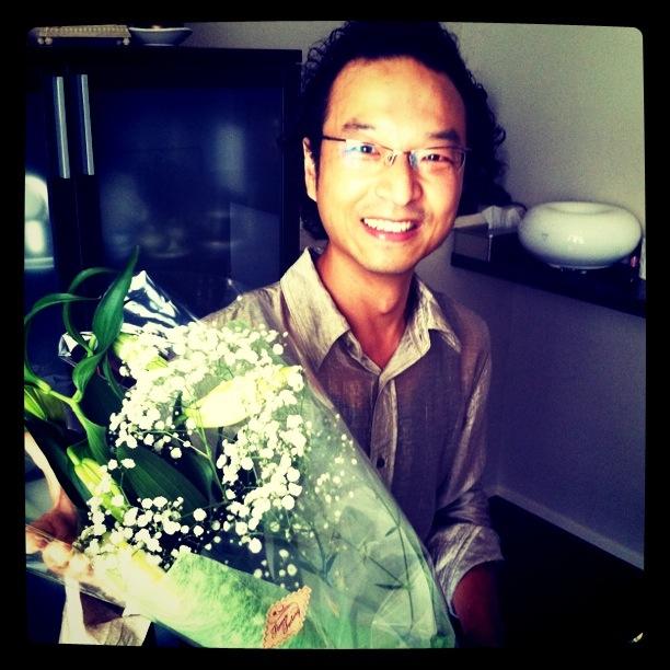 素敵な花束を頂いちゃいました〜♡_f0170519_0515410.jpg
