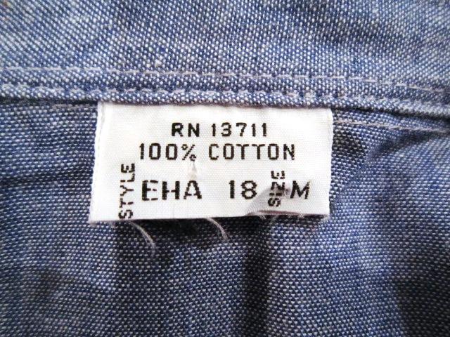 """Used \""""1960~70s シャンブレーシャツ\"""" 紹介_f0191324_9374884.jpg"""