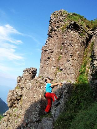 岩峰に登る_e0077899_6394082.jpg