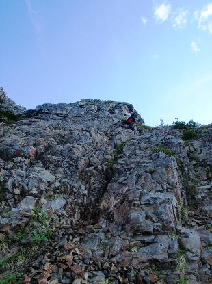 岩峰に登る_e0077899_6405456.jpg
