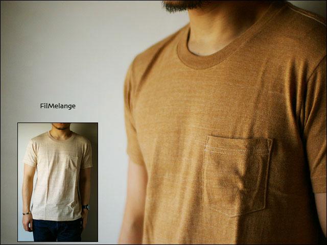 Filmelange[フィルメランジェ] BROWN [ブラウン] ポケット無地Tシャツ_f0051306_16435184.jpg