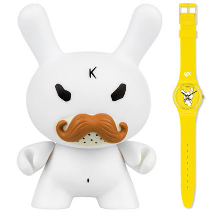 Swatch and 3-inch Dunny by Kozik_e0118156_23595920.jpg