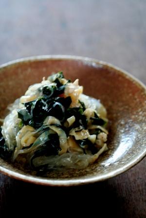 非常食でおかずを作る 4 クラゲとワカメ、春雨と鶏ささみのサラダ_b0048834_6142477.jpg