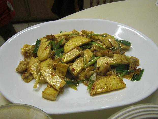 豆腐ととり皮の豆板醤炒めの作り方。_c0119140_1359798.jpg