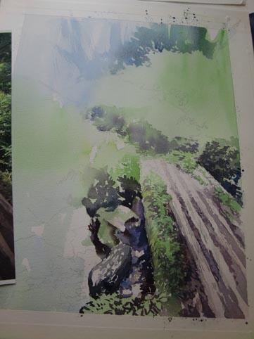 水彩画 タイトル未定_f0176370_16595722.jpg