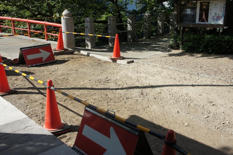 松戸神社 参道改修工事  2011.8.30_e0223769_21272618.jpg