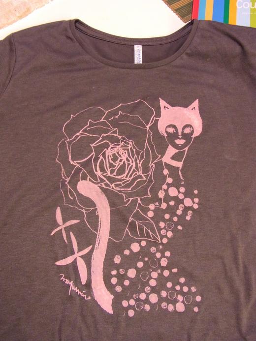 ローズ&キャットガール Tシャツ_e0044855_17265458.jpg