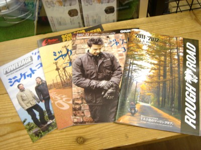 2011〜2012秋冬ウェアのカタログが入ってきました。_b0163075_843758.jpg