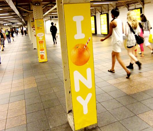 トロピカーナ・オレンジジュースがユニークなNY限定キャンペーン_b0007805_23592684.jpg