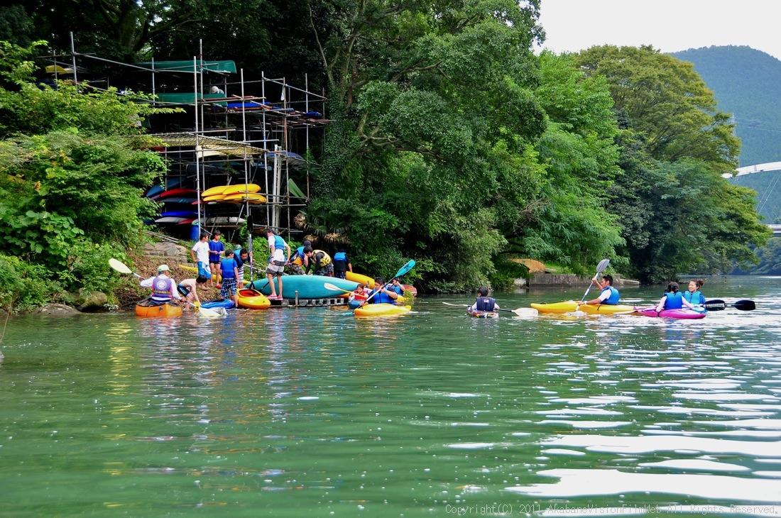 CREDIT camp for kids 2011VOL10:Day3カヌーライドその3クリフジャンプ〜帰還_b0065730_9135539.jpg