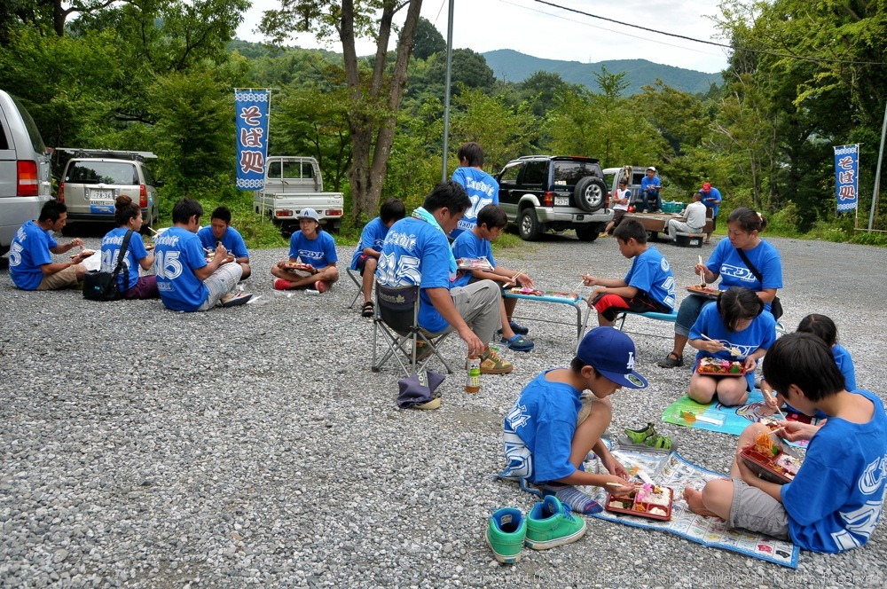 CREDIT camp for kids 2011VOL10:Day3カヌーライドその3クリフジャンプ〜帰還_b0065730_9162516.jpg