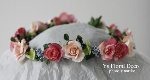 カラフルなブーケ&花冠 ミントグリーンのドレスに_b0113510_012208.jpg