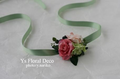 カラフルなブーケ&花冠 ミントグリーンのドレスに_b0113510_0122812.jpg
