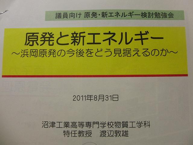 「浜岡原発の今後をどう見据えるのか」原発・新エネルギー検討勉強会に参加して_f0141310_764933.jpg