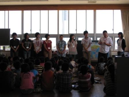万代長嶺小学校において異文化理解ワークショップを行いました。_c0167632_17454755.jpg