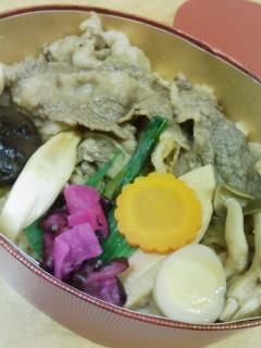 人形町 今半の炊き込みご飯すき焼弁当_f0112873_22584926.jpg