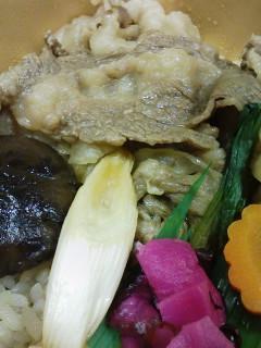 人形町 今半の炊き込みご飯すき焼弁当_f0112873_230678.jpg