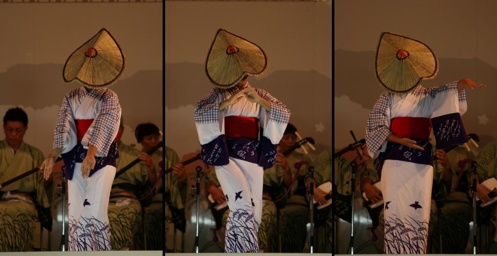 おわら風の盆 2011 4 福島の駅横ステージ_c0196076_169197.jpg