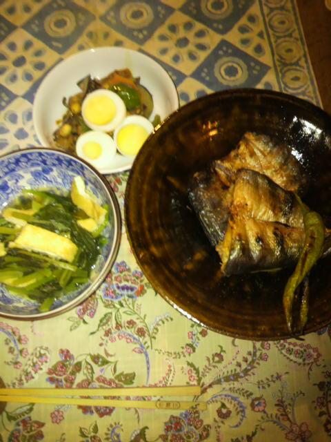夕食はカマス_f0052181_22285769.jpg