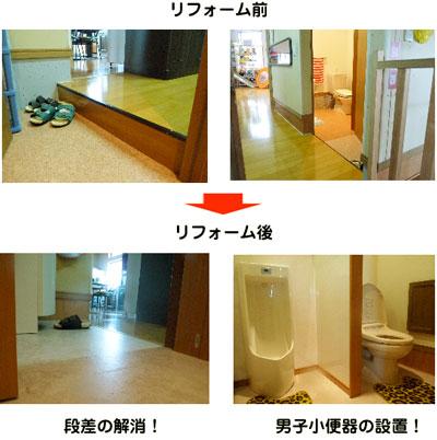 1階のバイアフリーと男子トイレが実現しました♪_c0214657_11101790.jpg
