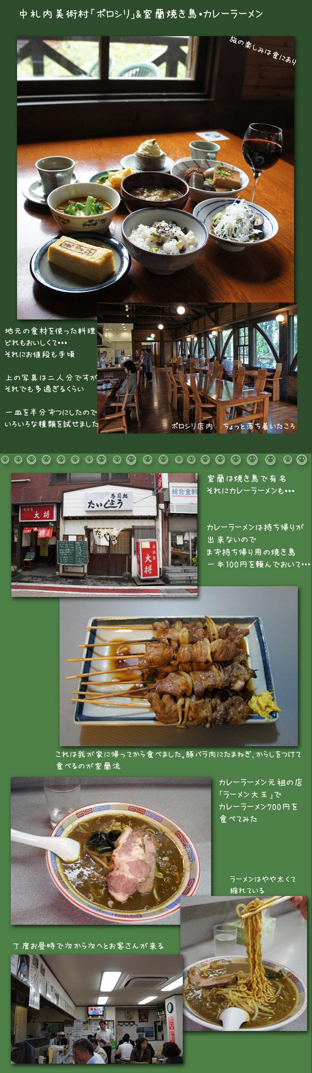 名物の食べ物行脚(帯広・豚丼 室蘭・焼き鳥・カレーラーメン)_b0019313_1751840.jpg