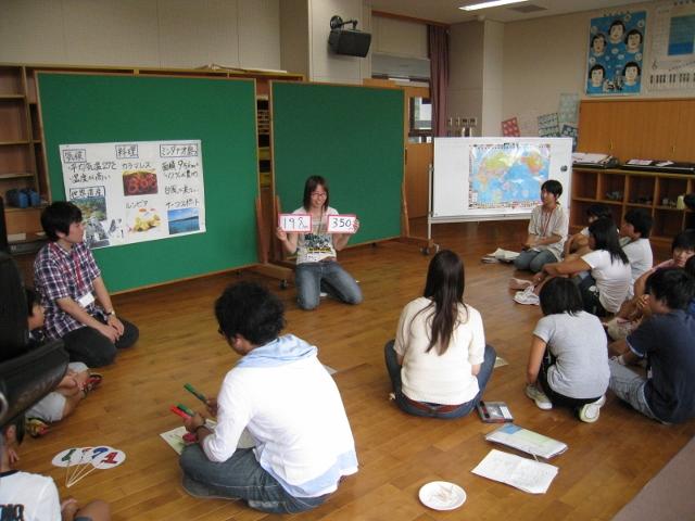 見附市立上北谷小学校で『知っとこ!私たちの関わる世界の現実』のWSを行いました。_c0167632_1715422.jpg