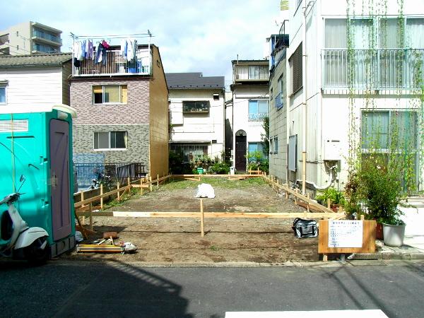 「浅草の家」水盛り遣り方 2011.9.9_f0230666_15511078.jpg