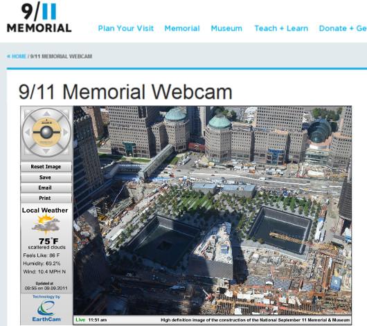 ニューヨークの9/11メモリアルの様子をライブ中継するウェブカム_b0007805_057255.jpg