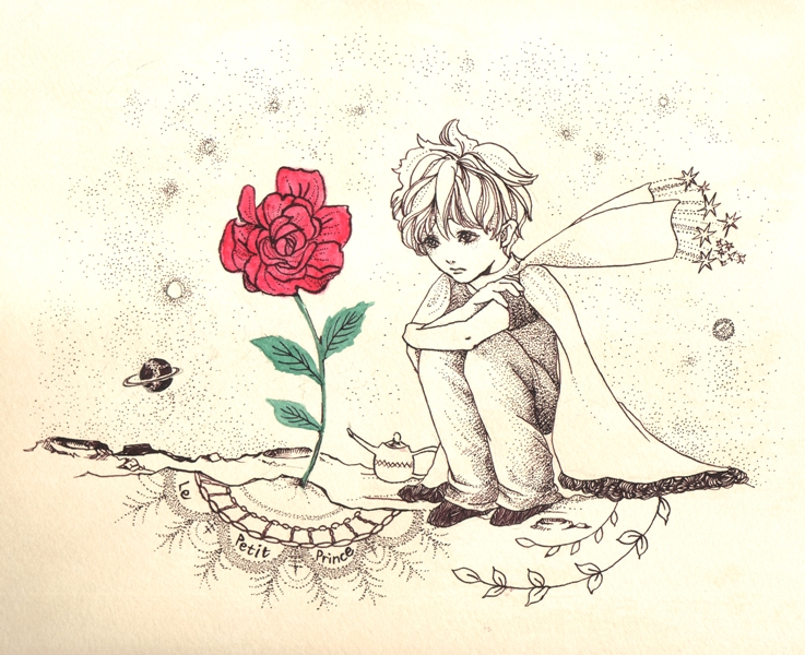 Le Petit Prince with a rose_f0228652_393596.jpg